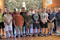 Seminarians-At-Lake-Retreat-With-Bishop-James-Johnston-And-Father-Adam-Johnson